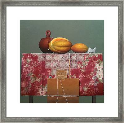Composition With Lace  Framed Print by Hernan Miranda