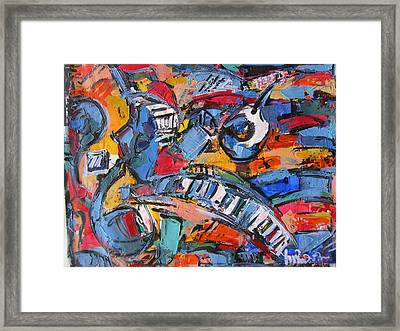 Composition With Music Framed Print