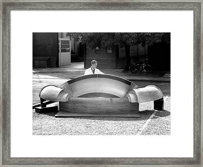 Compressed Air Tunnel Component Framed Print