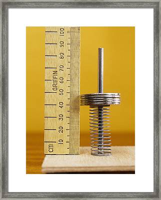 Compressed Spring Framed Print by Andrew Lambert Photography