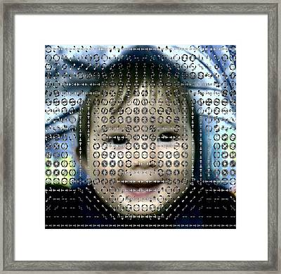 Computer Analysis Of A Smile On A Baby's Face Framed Print by Institute For Neural Computation, University Of California