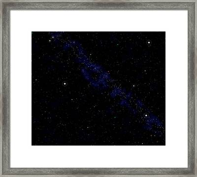 Computer Artwork Of A Starfield Framed Print by Roger Harris