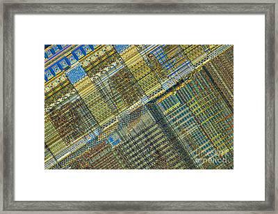 Computer Chip Framed Print by Michael W. Davidson