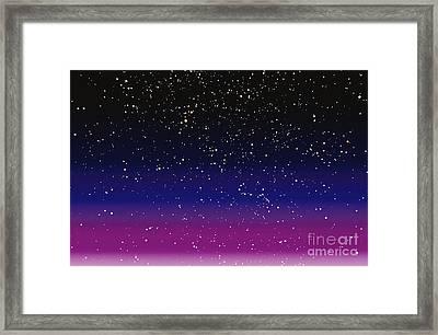 Computer Enhanced Star Scene Framed Print
