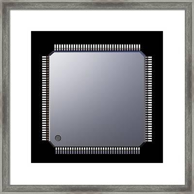 Computer Memory Chip Framed Print by Pasieka