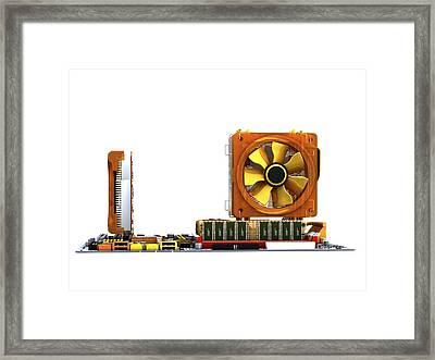 Computer Motherboard, Artwork Framed Print