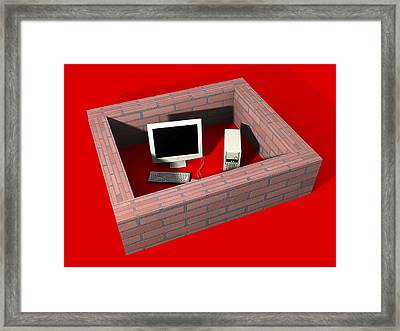 Computer Protection, Computer Artwork Framed Print