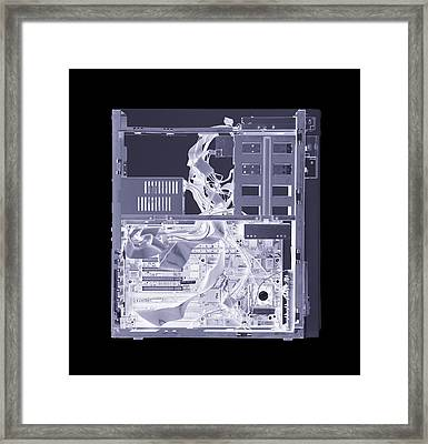 Computer, Simulated X-ray Framed Print by Mark Sykes