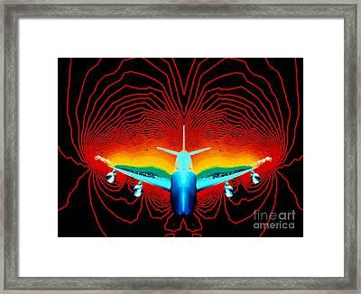 Computer Simulation Of Airplane Flight Framed Print by Nasa