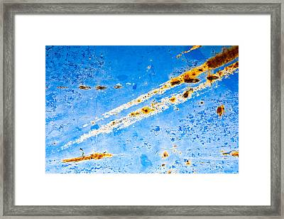Comtrails Framed Print by Mark Weaver