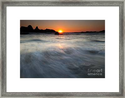Concealed By The Tides Framed Print by Mike  Dawson