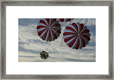 Concept Of The Second Stage Recovery Framed Print by Stocktrek Images