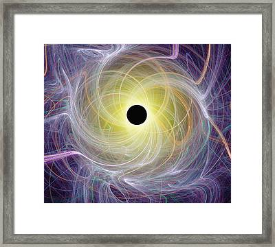 Conceptual Computer Artwork Of A Black Ho Framed Print by Mehau Kulyk