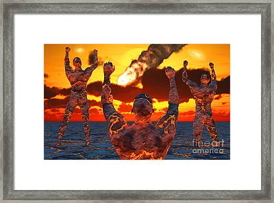 Conceptual Image Based On The Myths Framed Print by Mark Stevenson