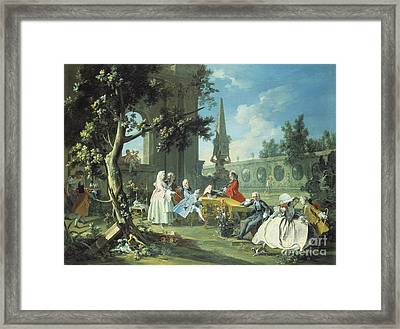 Concert In A Garden Framed Print by Filippo Falciatore