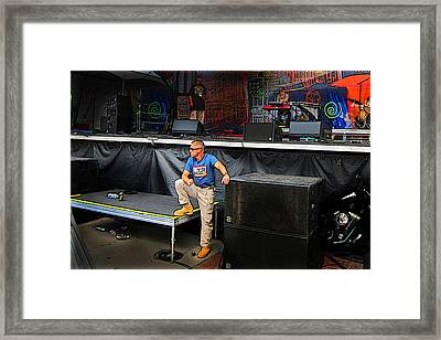 Concert Security Guy Framed Print by Ric Soulen