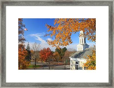 Concord Massachusetts In Autumn Framed Print by John Burk