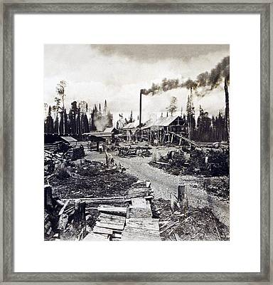 Concord New Hampshire - Logging Camp - C 1925 Framed Print by International  Images