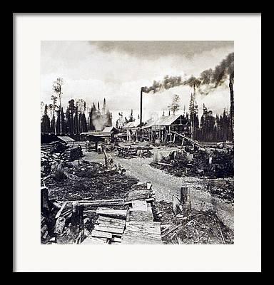 New Hampshire Logging Framed Prints