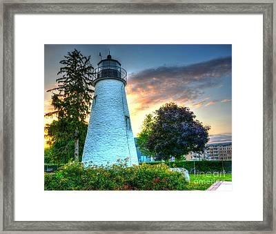 Concord Point Lighthouse 2 Framed Print by Debbi Granruth