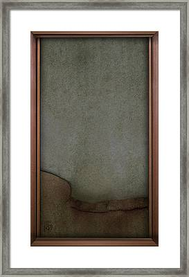 Framed Print featuring the digital art Concrete And Copper by Jean Moore