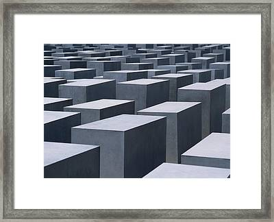 Concrete Blocks At Jewish Holocaust Framed Print by Axiom Photographic