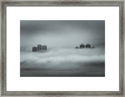 Concrete  Buildings Framed Print by Yiu Yu Hoi