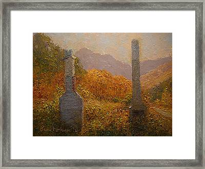 Concrete Tombstones Framed Print by Terry Perham