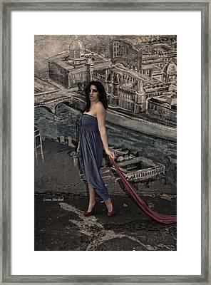 Concrete Velvet 1 Framed Print by Donna Blackhall