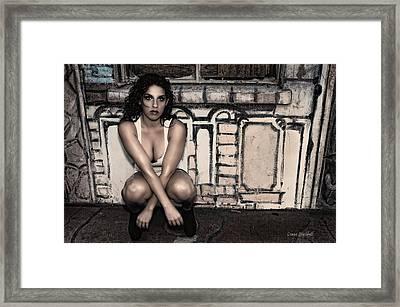 Concrete Velvet 10 Framed Print by Donna Blackhall