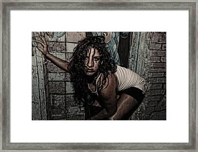 Concrete Velvet 34 Framed Print by Donna Blackhall