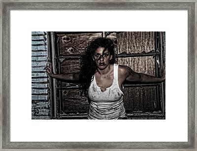 Concrete Velvet 35 Framed Print by Donna Blackhall