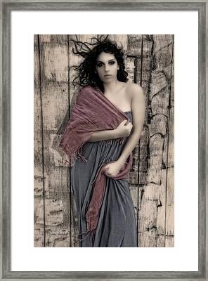 Concrete Velvet 5 Framed Print by Donna Blackhall