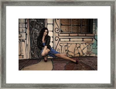 Concrete Velvet 7 Framed Print by Donna Blackhall