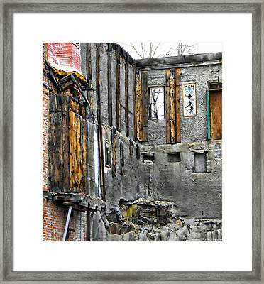 Condemned Framed Print by Michelle Frizzell-Thompson