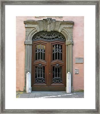 Condominium Door Framed Print
