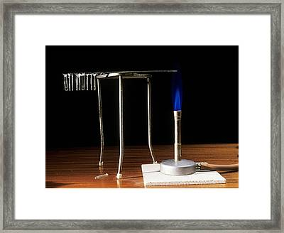Conduction Of Heat Framed Print