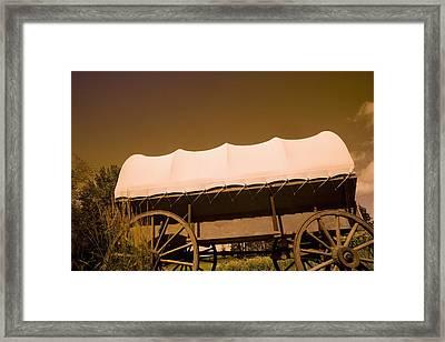 Conestoga Wagon Framed Print by Darren Greenwood
