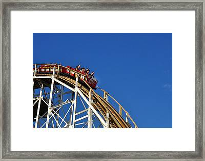 Framed Print featuring the photograph Coney Island Cyclone by Diane Lent