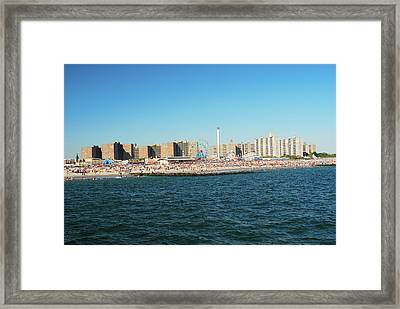 Coney Island, New York Framed Print by Thepurpledoor