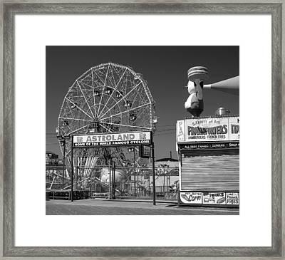 Coney Island Ny Framed Print