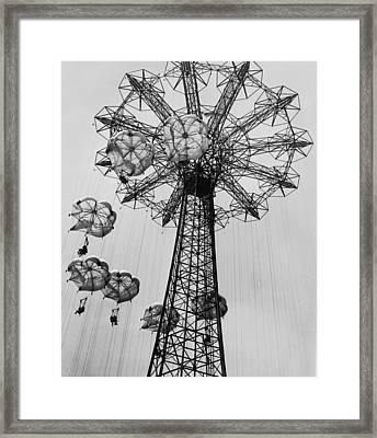 Coney Island Ride Framed Print by Archive Photos