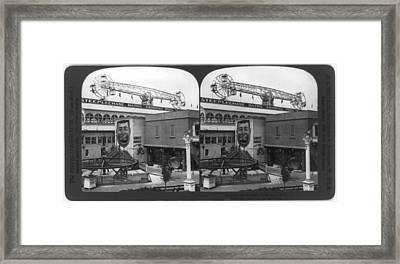 Coney Island, Stereo Photograph Framed Print by Everett