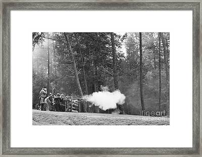 Confederate Breastworks Carnifax Ferry Framed Print