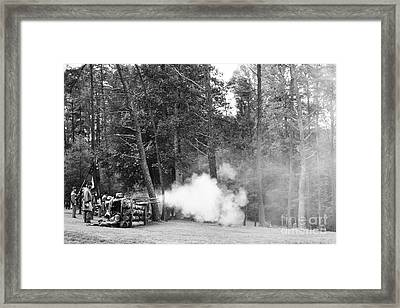 Confederate Breastworks Framed Print