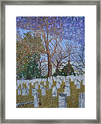 Confederate Cemetery At Oakwood Framed Print by Micah Mullen