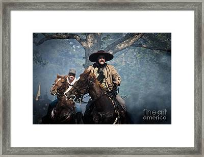 Confederate Charge Framed Print by Kim Henderson