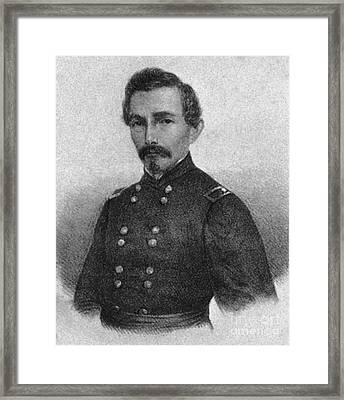 Confederate General Beauregard Framed Print by Photo Researchers