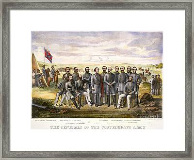 Confederate Generals Framed Print by Granger