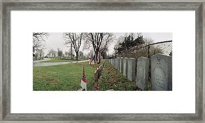 Confederate Graves Framed Print by Jan W Faul